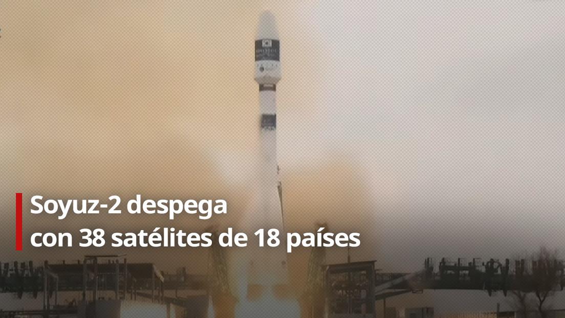 VIDEO: Despega por primera vez un cohete ruso Soyuz-2 con diseño renovado con 38 satélites de 18 países a bordo